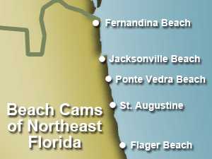 Northeast Florida Beaches Map.North East Florida Coast Map